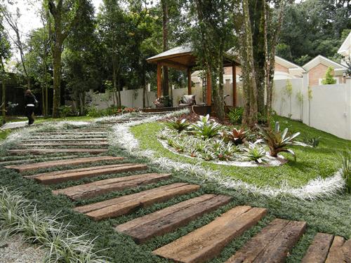 escadas externas jardim : escadas externas jardim:Dormente de Madeira – Kaska Madeiras Ecológicas